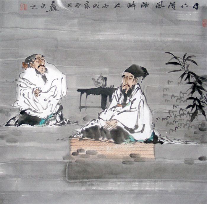 王巍作品:月下清风洒醉人